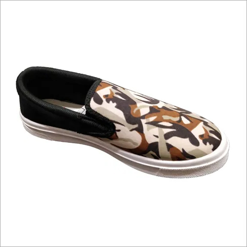 Mens Printed Canvas Loafer Shoes