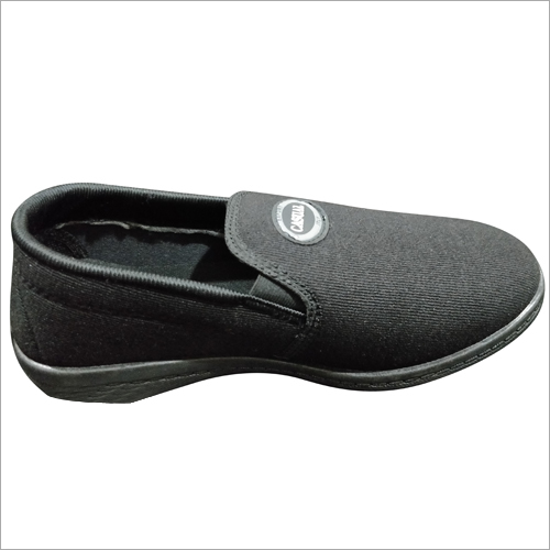 Mens Black Slip On Canvas Shoes
