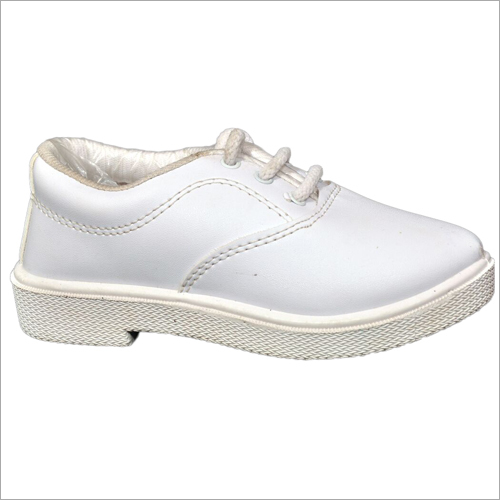 Boys Derby White School Shoes