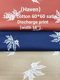 HAVEN 100% cotton 60*60 satin  discharge print
