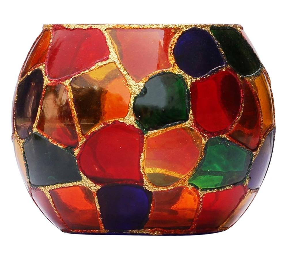Mosaic Glass Tea Light Holder