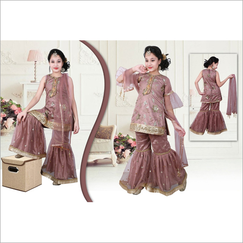Girls Ethnic Sharara Suit