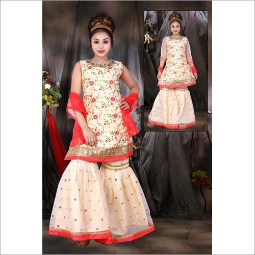 Girls Party Wear Sharara Suit