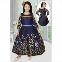 Girls Embroidered Gown