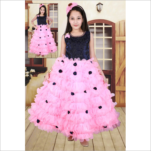 Girls Sleeveless Gown