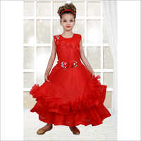 Girls Floral Sleeveless Gown