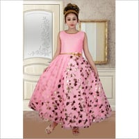 Girls Printed Gown