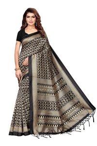 Digital Printed Mysore Silk Saree