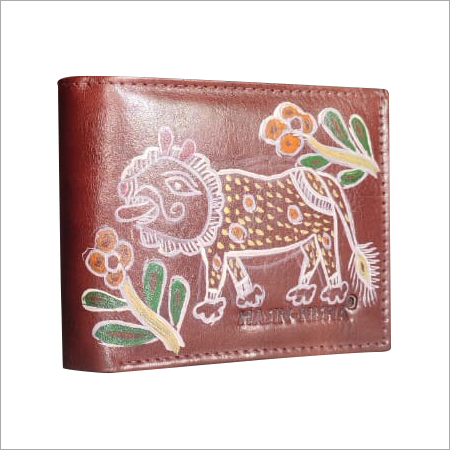Hand Painted Mens Wallet
