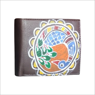 Designer Hand Painted Mens Wallet