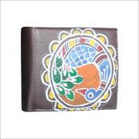 Designer Hand Painted Mens Wallet