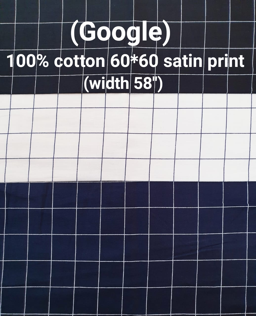 Google 100% cotton 60*60 satin print check