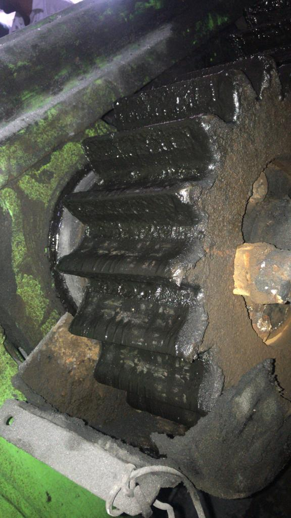 OLD RUBBER MIXING MILL 14''36
