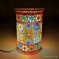Decorated Glass Mosaic Table Lamp