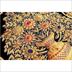 Zari Embroidery Saree Work