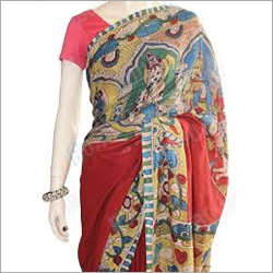 Red Kalamkari Saree