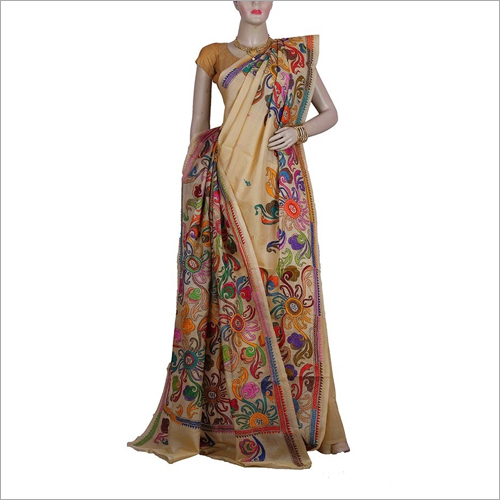 Bengali Stitch Silk Saree