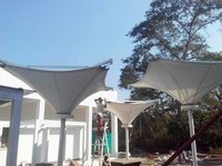 Pool Side Tensile Shade