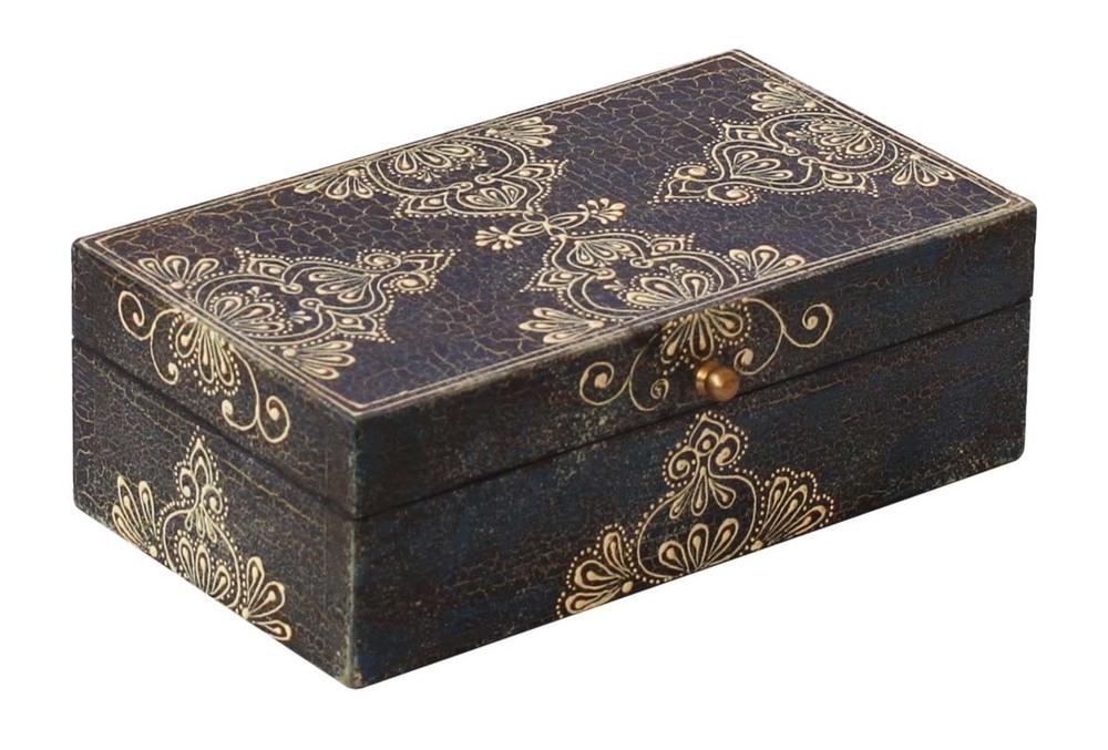 Wooden Black Jewelry Box