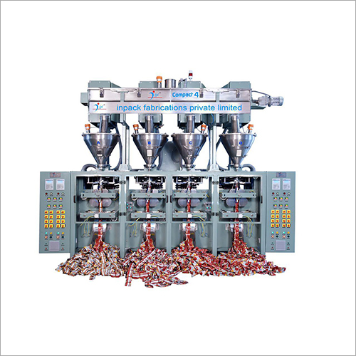 4 Head Automatic Compact Sachet Packaging Machine