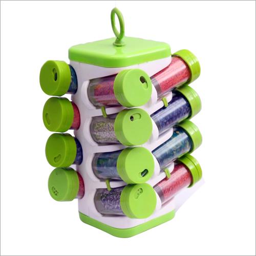 Plastic Revolving 16 Spice Rack