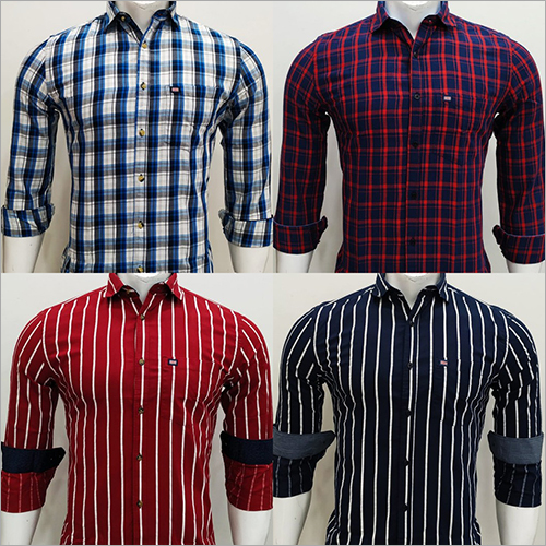 Mens Check Full Sleeves Shirt