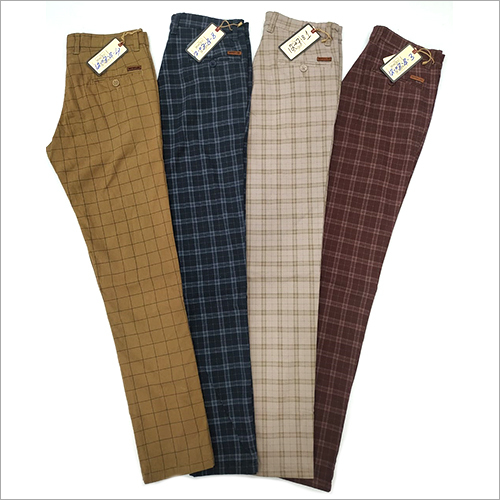 Mens Check Trouser