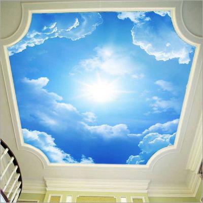 3D Sky Stretch Ceiling Film
