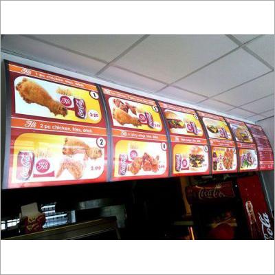 Restaurant Menu Sign Board Display Lightbox