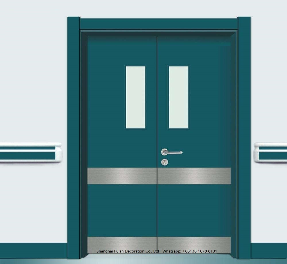 Hospital Door with Kick Pull Plate
