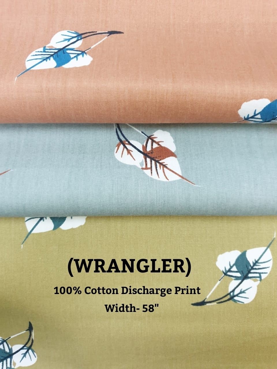WRANGLER 100% cotton discharge print