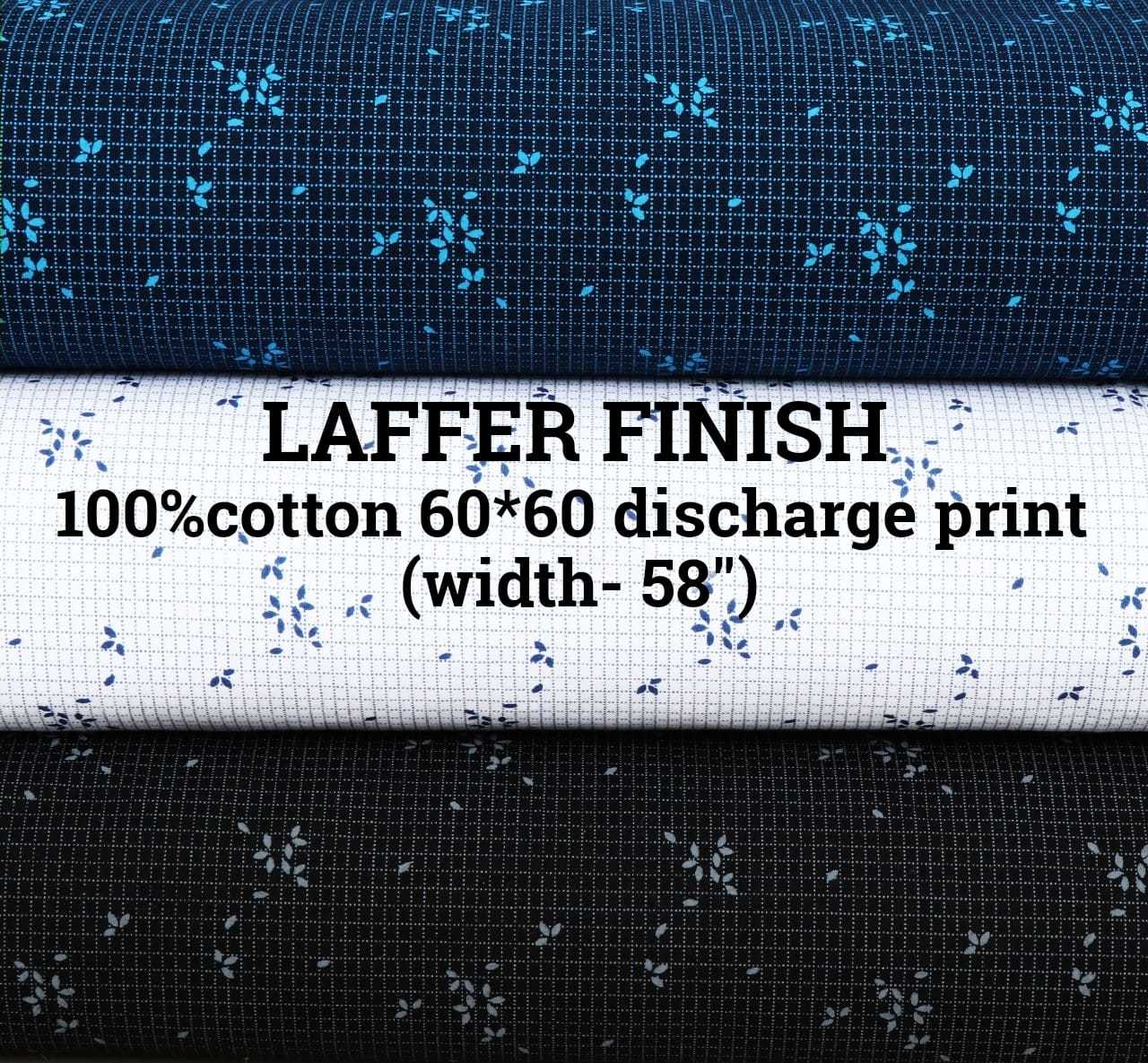 LAFFER FINISH 100% cotton 60*60 discharge print