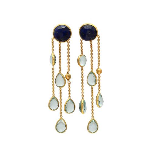 Lapis Lazuli & Blue Topaz Hydro Gemstone earrings