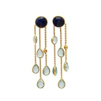 Lapis Lazuli & Blue Topaz Hydro Gemstone earrings