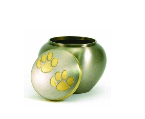 Odyssey Paw Print Pewter Pet Urn Extra Small New