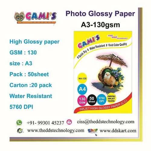 A3 130 GSM photo paper distributor