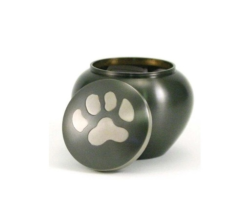 Odyssey Paw Print Slate Pet Urn Petite New
