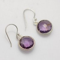 Amethyst Hydro Gemstone Earrings