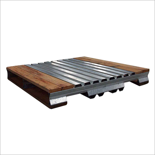 Wood And Steel Pallet