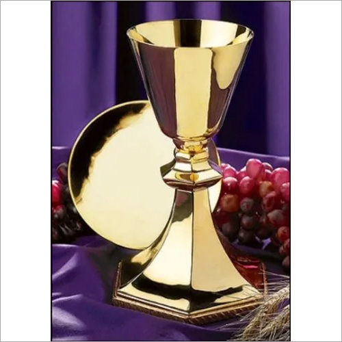 Brass Gold Chalice / Church Product Supplier By Brassworld India