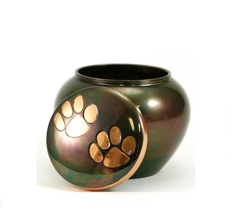 Odyssey Paw Print Copper Pet Urn Extra Small New