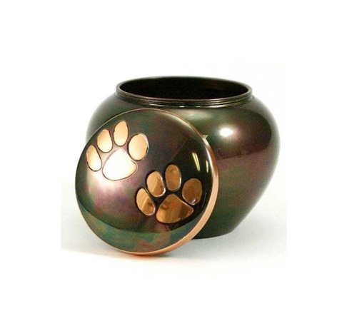 Odyssey Paw Print Copper Pet Urn Small- New