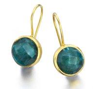 Dyed Emerald Gemstone Earrings