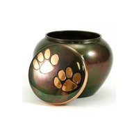 Odyssey Paw Print Copper Pet Urn Petite New