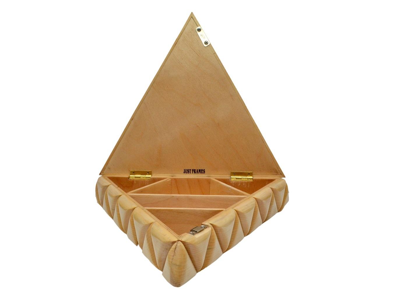 Triangle Shape Wooden Dryfruit Box
