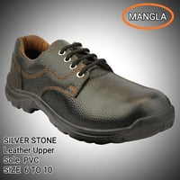 LEATHER UPPER PVC SOLE SAFETY SHOE