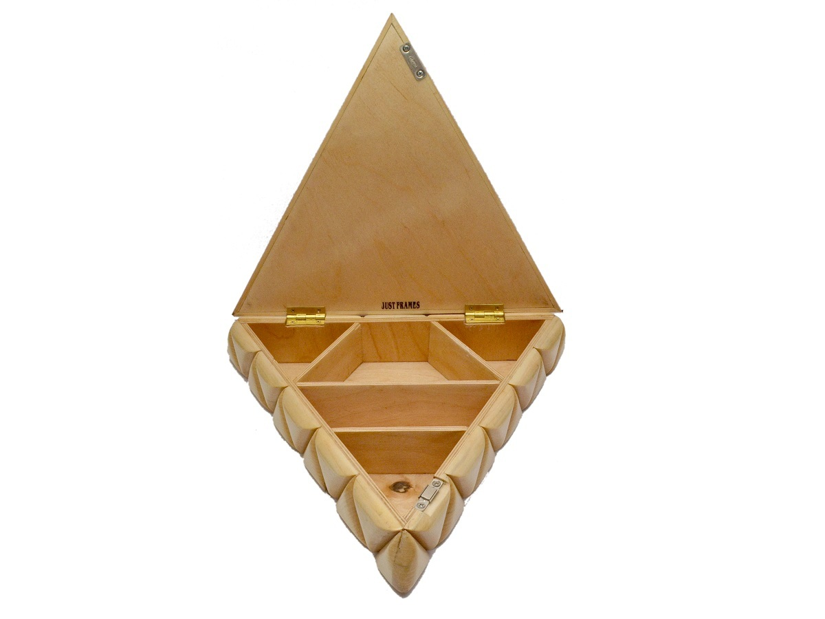 Triangle Shape Wooden Dryfruit Box
