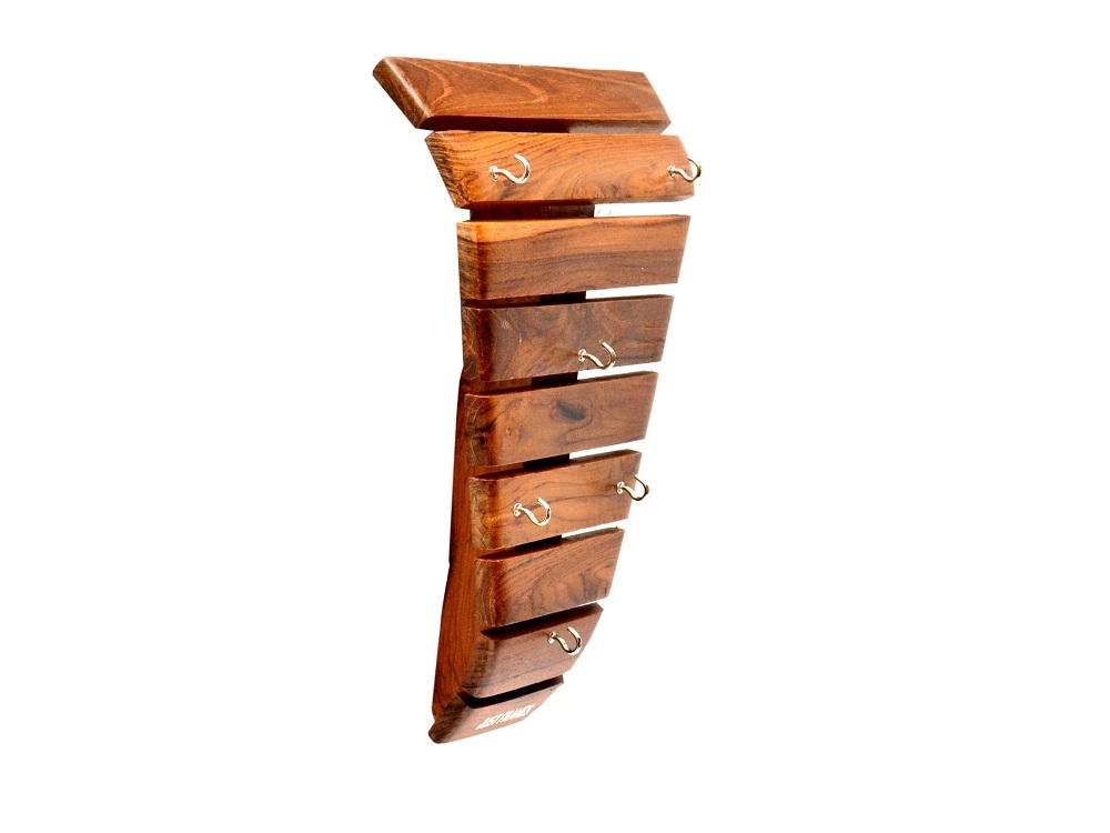 6 Hook Wooden Key Holder