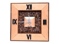 wooden hanging wall clock