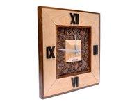 wooden hanging wall clock